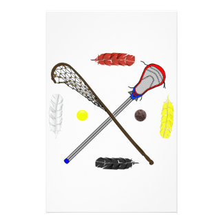 Traditional and Modern Lacrosse sticks Stationery