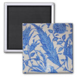 Traditional antique Blue and White Ottoman Ceramic 2 Inch Square Magnet