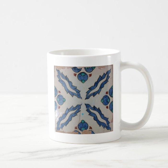 Traditional antique Ottoman tile Coffee Mug