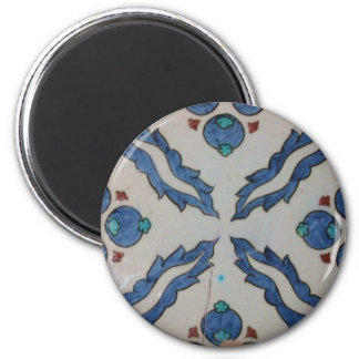 Traditional antique Ottoman tile 2 Inch Round Magnet