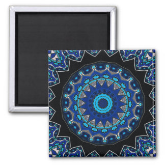 Traditional antique Ottoman Turkish tile 2 Inch Square Magnet