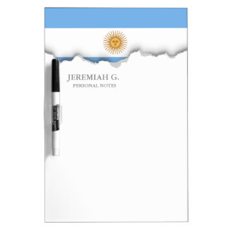 Traditional Argentina Flag Dry Erase Board