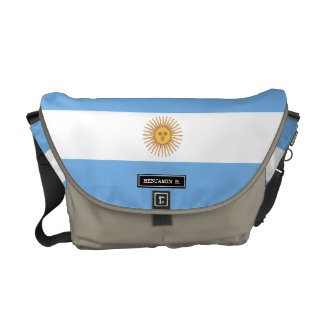 Traditional Argentina Flag Messenger Bag