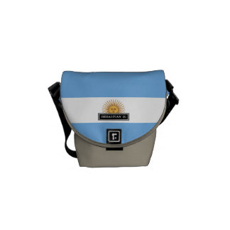 Traditional Argentina Flag Messenger Bag