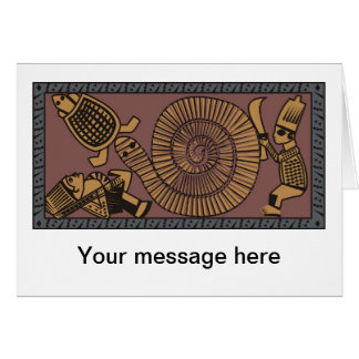 Traditional Art from North Africa, African Artwork Card