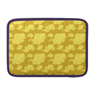 Traditional Asian/Chinese Golden Cloud Pattern MacBook Sleeve