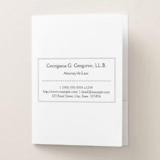 Traditional Attorney-At-Law Pocket Folder