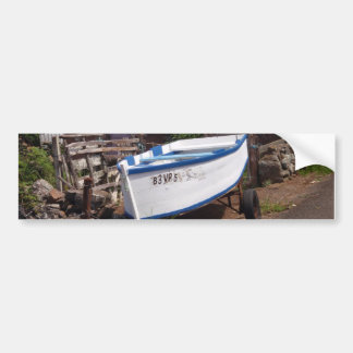 Traditional Azorean Fishing Boat Bumper Sticker