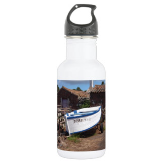 Traditional Azorean Fishing Boat Stainless Steel Water Bottle