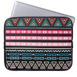 Traditional Aztec seamless tribal folk art pattern Computer Sleeve