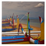Traditional Balanese fishing boats on beach near Ceramic Tile