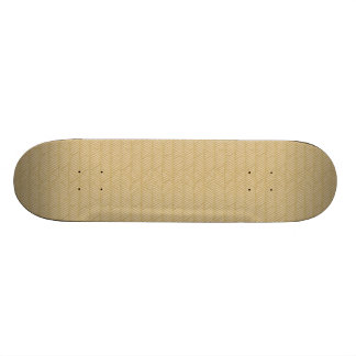 Traditional bamboo skateboard deck