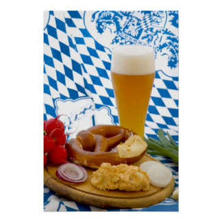 Traditional Bavarian Snack Poster