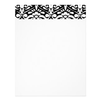 Traditional Black and White Letter Head Stationary Letterhead Template
