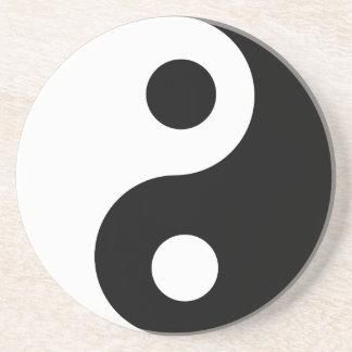 Traditional Black and White Yin Yang Pattern Coaster
