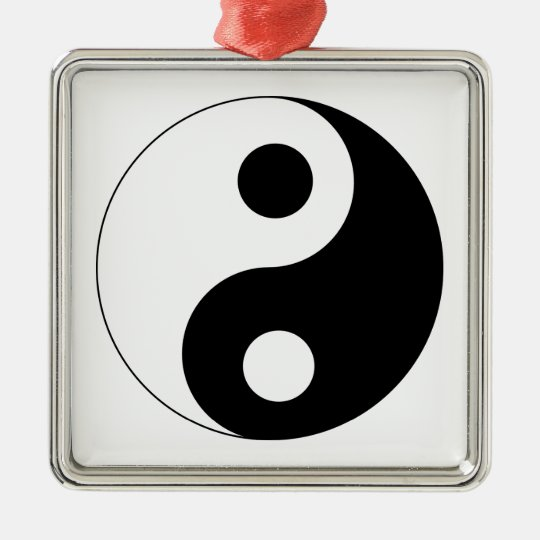 Traditional Black and White Yin Yang Pattern Metal Ornament
