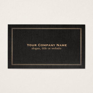 Traditional Black Linen Look Business Card