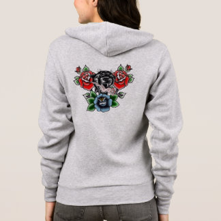 Traditional Black Panther Pin Up Girl Hoodie