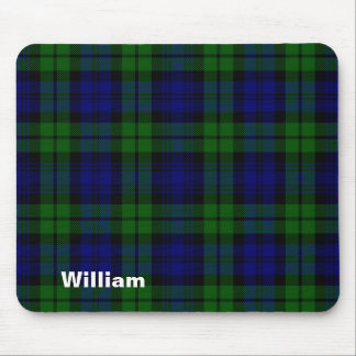 Traditional Black Watch Tartan Plaid Mouse Pad