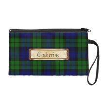 Traditional Black Watch Tartan Plaid Wristlet