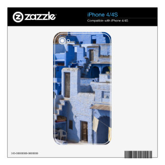 Traditional blue painted house, Jodphur Skin For iPhone 4