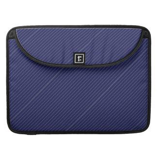 Traditional Blue Stripes Pattern MacBook Pro Sleeve