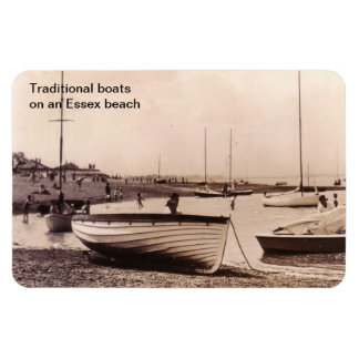 Traditional Boats Beach at Stone, UK Rectangular Photo Magnet