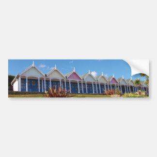 Traditional British Beach Huts Bumper Sticker