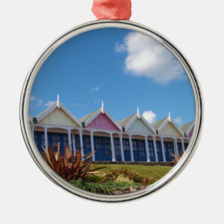 Traditional British Beach Huts Metal Ornament