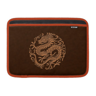 Traditional Brown Chinese Dragon Circle MacBook Air Sleeve