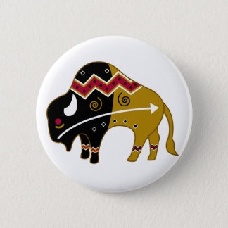 Traditional Buffalo Pinback Button