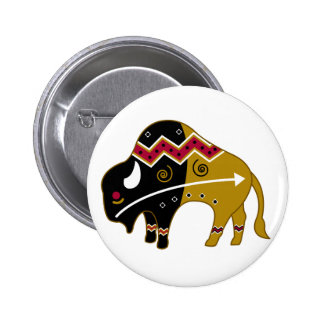 Traditional Buffalo Pinback Button
