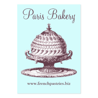 Traditional Cafe / Coffee Shop / Bakery Vintage Large Business Card