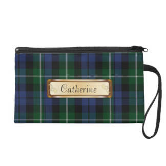 Traditional Campbell Clan Tartan Plaid Wristlet Purse