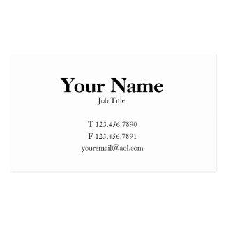 Traditional Card Double-Sided Standard Business Cards (Pack Of 100)