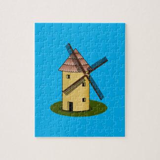 Traditional Cartoon European Windmill Puzzles