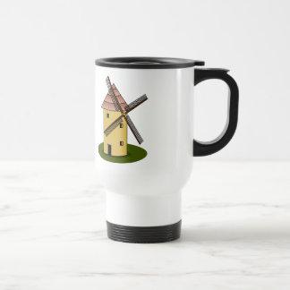 Traditional Cartoon European Windmill Travel Mug