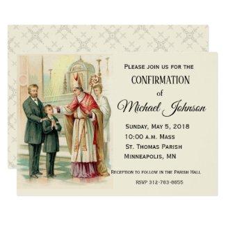 Traditional Catholic Boy Confirmation Confirm Invitation