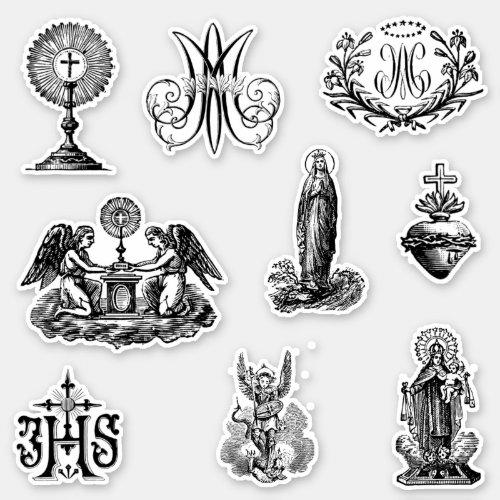 Traditional Catholic Virgin Mary Angels  Saints Sticker