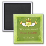 Traditional Celtic Theme Wedding Save the Date 2 Inch Square Magnet
