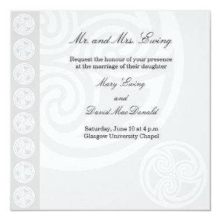 Traditional Celtic Wedding Invitation at Zazzle