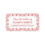 Traditional Chef Homemade Baking / Canning Address Label