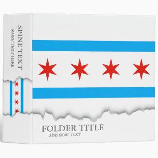 Traditional Chicago flag Binder