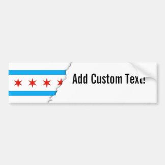 Traditional Chicago flag Bumper Sticker