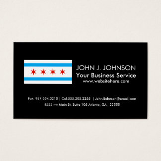 Traditional Chicago flag Business Card