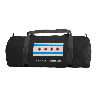 Traditional Chicago flag Gym Bag