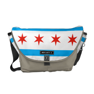 Traditional Chicago flag Messenger Bag