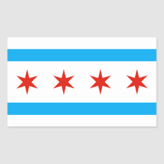 Traditional Chicago flag Rectangular Sticker