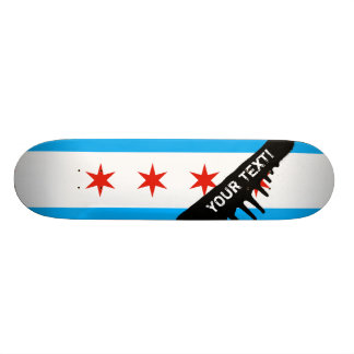 Traditional Chicago flag Skateboard