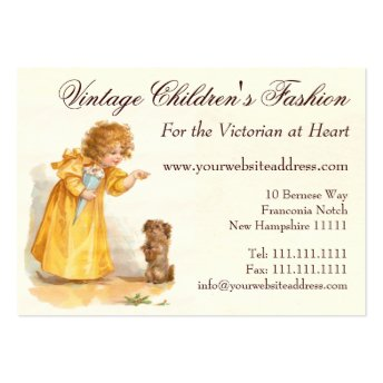 Traditional Children's Clothing Shop, Vintage Fash Business Card